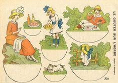 gouter 1 | patricia m | Flickr Art Nouveau, Belle Epoque, Paper Art, Paper Crafts, Diy Crafts, Snow White Disney, Paper Dolls Printable, Vintage Paper Dolls, Paper Models