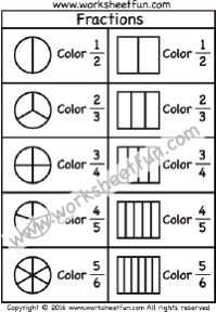 Most Popular Math Worksheets / FREE Printable Worksheets – Worksheetfun Math Fractions Worksheets, Learning Fractions, 2nd Grade Math Worksheets, School Worksheets, Free Printable Worksheets, Teaching Math, Maths Syllabus, Fraction Activities, Learning Activities