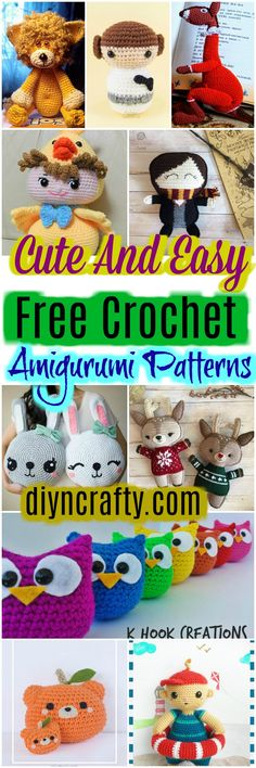 Here we have shared a grand list of free #crochet #amigurumi patterns that all makes perfect cuddly toys and can also be used as best lovey to your babies!Baby Chick Crochet Free Pattern