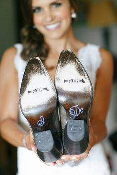 """I Do"" boots // photo by Kina Wicks // http://ruffledblog.com/romantic-illinois-farm-wedding"
