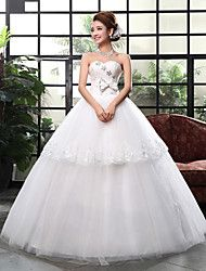 Báli ruha Menyasszonyi ruha Földig érő Szív alakú Csipke / Szatén / Tüll