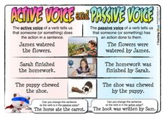 "A poster and activity sheet - active & passive verbs. Remember the zombie rule for testing for passive verbs. If you can say ""by a zombie"" after the verb and it makes sense, it's passive. Get rid of it, and use an active verb instead! Learn English Grammar, English Lessons, Teaching English, English Vinglish, English Resources, English Class, Active And Passive Voice, Active Voice, 8th Grade Ela"
