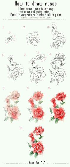 Picture Town - #63:Cách vẽ hoa hồng - Wattpad