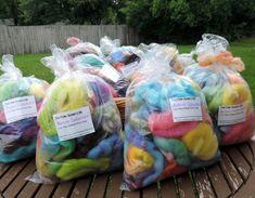 2oz 56g Felters Bulk Wool Roving Fiber Rainbow Colors Hand Dyed Spinning Felting USA Pink Blue Green Purple Yellow Orange & More