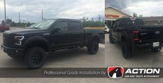 """Take a look at this Beautiful Ford F150 completed by our store in Timmins, ON! - SPYDER AUTO headlights and taillights  - Bushwacker Fender Flares - LRG wheels with 35"""" Ginell tires - ReadyLift Suspension Inc. leveling kit - AVS Aeroskin and Vent visors - TruXedo Tonneau Covers truck bed cover - MBRP Performance Exhaust system - K&N Filters Cold air intake"""