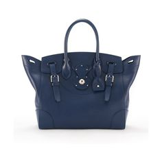 Ralph Lauren Navy Nappa Leather Soft Ricky (146.450 RUB) ❤ liked on Polyvore featuring bags, handbags, shoulder bags, purses, navy blue shoulder bag, ralph lauren purses, navy shoulder bag, shoulder handbags and blue purse