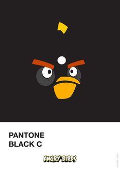 Pantone Angry Birds-4 - Black Cby Filipe Marcus