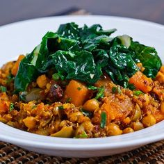 Moroccan Butternut Squash, Chickpea and Quinoa Tagine Recipe (Uses ginger, turmeric & cinnamon-healthy spices)