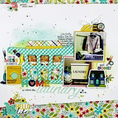 Scrapbooking Layout | Scrapbook Page | 12X12 Layout | Laura Whitaker | Simple Stories | Creative Scrapbooker Magazine #scrapbooking #simplestories