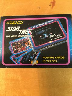 A personal favorite from my Etsy shop https://www.etsy.com/listing/521487604/star-trek-next-generation-playing-cards
