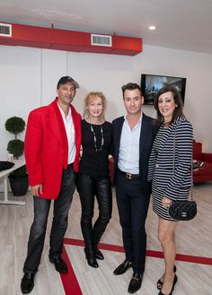 Left to Right: Tarek Kirschen - Glozal Group CEO; Candace Jorritsma-Altima; Chris Leavitt - Douglas Elliman (and star of Million Dollar Listing Miami); with his client Vee Paris at the Launch Event for Z Palm Beach Residences.
