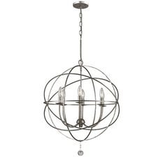 Bellacor Crystorama Solaris Olde Silver 6 light Chandelier $400     Dining room fixture