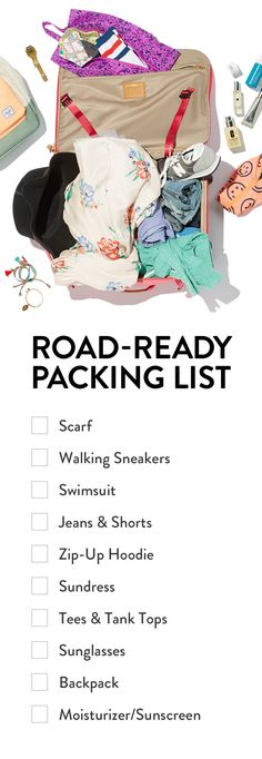 The ultimate road trip packing guide.