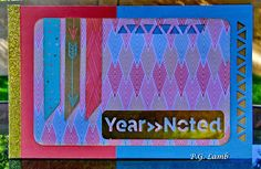 Peachy Paper Crafts Part Deux: Year >> Noted, National Papercrafting Month Blog Hop #TriangleBorderPunch - mini album cover
