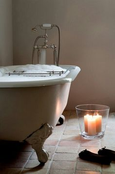 Relaxing romantic bath #romantic #romance