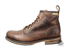 Harley-Davidson® Mens Black Label Darrol Brown Leather Low Cut Boot 93192