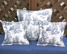 French Country Pillow Set Countryside Decor Provincial Furniture