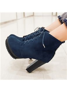 Shapely Chunky Heel Ankle Boots