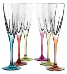 Amazon.com: Fusion Crystal Multicolor Champagne Set: Kitchen & Dining