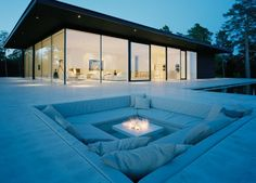 Fire pit ideas outdoor living. So cool to have a sunken pit area!