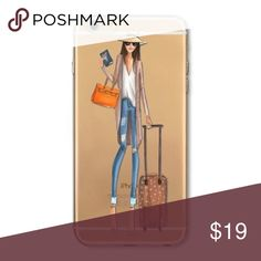 Travel Fashion Girl Phone Case 🌎 📱 Fits iPhone 6/6S. Perfect stocking stuffer! 🎄 🎅🏽 Accessories Phone Cases