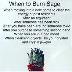 What you need to know about sage burning and There Health Benefits from Burning Sage Smudging Prayer, Sage Smudging, Vie Positive, Spiritual Cleansing, Spiritual Bath, Magick Spells, Real Spells, Wicca Witchcraft, Under Your Spell