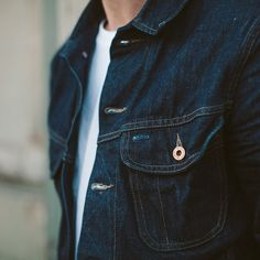The Cone Mills Custom Selvage Denim Jacket from Taylor Stitch, now available at The Revive Club online store.
