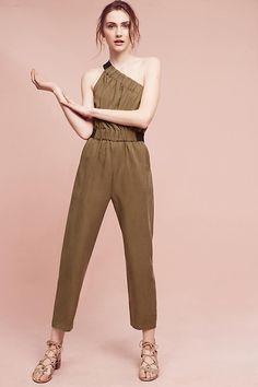 Verano Jumpsuit by Maeve, Moss - at Anthropologie