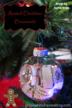Musical Christmas Ornaments for piano students
