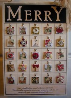 Donna's inchies advent calender.  What a wonderful, inspirational idea!