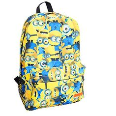 f88e835cdaaf Despicable me Minions Backpacks for School Canvas Large Book Bags Teens  minions  Minion Backpack