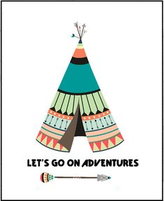Lets Go on an Adventure Nursery Wall Art Boho by LeelaPrintableArt