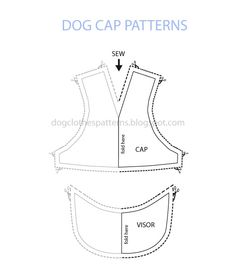 Free Dog Outfit Patterns | Free Dog Clothes Patterns: Dog cap pattern | Pets.....Costumes, Cloth ...