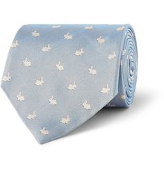 Paul Smith Shoes & Accessories - Rabbit-Patterned Silk-Faille Tie MR PORTER
