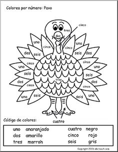 Spanish: Printable Coloring pages   abcteach