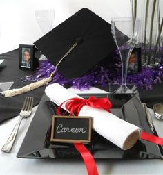 graduation party table centerpieces to make - Google Search