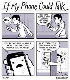 28 Clever Technology Addiction Cartoons