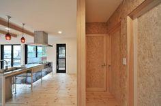 キッチン : 미니멀리스트 주방 by 若山建築設計事務所