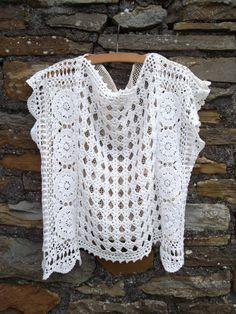 Blusa de crochê para o verão