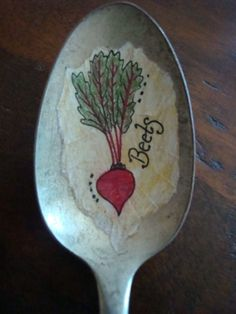 Vintage Spoon Beet Plant Marker by HomespunSprout on Etsy