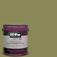 BEHR Premium Plus Ultra 1-gal. #S340-6 Fertile Green Eggshell Enamel Interior Paint
