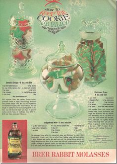 1960s vintage Christmas cookie recipes ad, Chronically Vintage blog