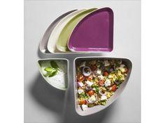 Sagaform Taste - cztery talerzyki | BelloDecor przystawki na imprezę sałatka