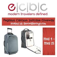 ECBC Pegasus Carryon Suitcase Giveaway May 4 - 25