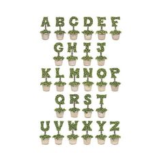 "I designed and hand painted each topiary letter in the alphabet. This Topiary print was created using the digital images of those original paintings and is available on bright white 110 lb. Strathmore paper. The Topiary Print is available as an 11""x17"". If you are interested in a size that is not offered, please message me and I will attempt to accommodate your request.  Each Topiary Letter is also available as an individual monogram notecard and print…"