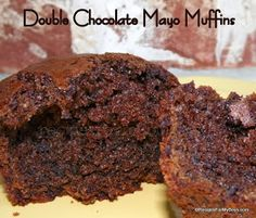 Recipes For My Boys: Double Chocolate Mayo Muffins