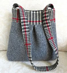 https://flic.kr/p/rc7YVw   gray Bella with black and white plaid 1   upcycled…