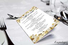 Bronze menuMenu cardGold menu card