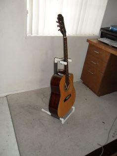 PVC Guitar stand (with bonus clock)