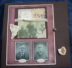 Heritage scrapbook page - closed